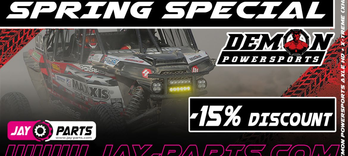15% Special Spring Discount for Demon Powersports Axles at Jay Parts