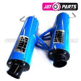Sonderangebot: HMF Performance Serie Doppel-Abgassystem Edelstahl Octan Blau Slip-on - Can Am Maverick Turbo