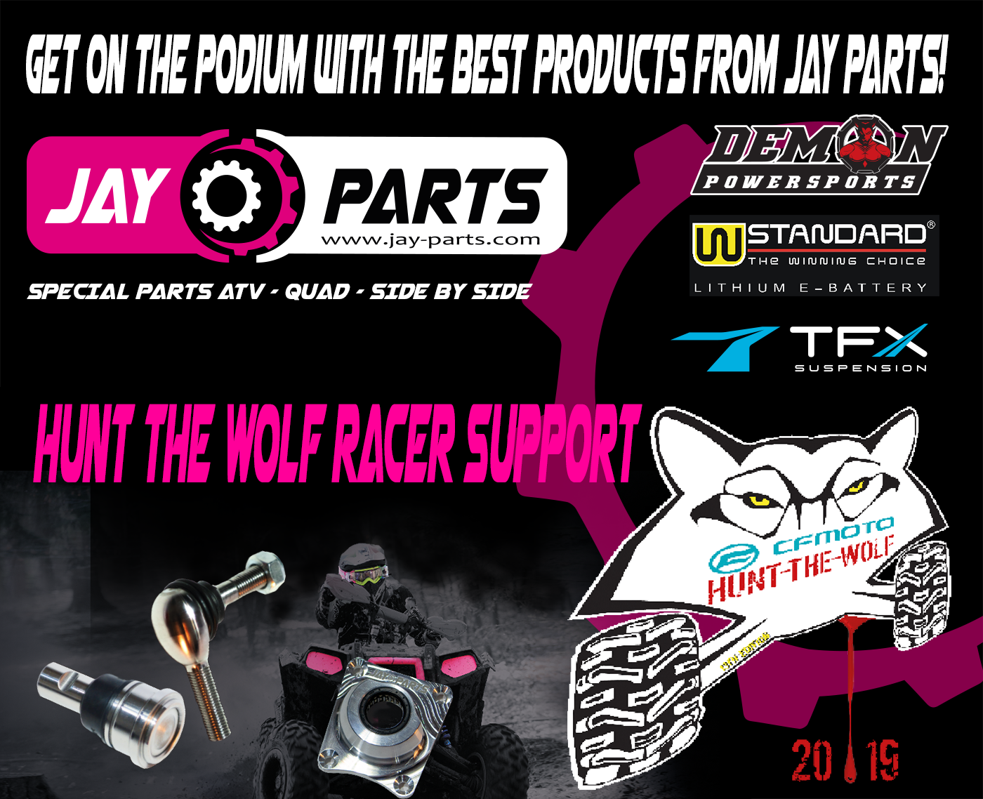 Jay Parts Sponsor Hunt The Wolf