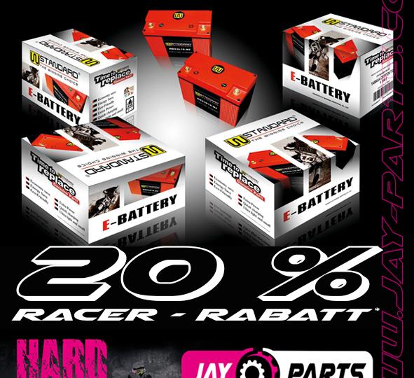 Jay Parts Racer Rabatt - W-Standard High Performance Batterie Aktion