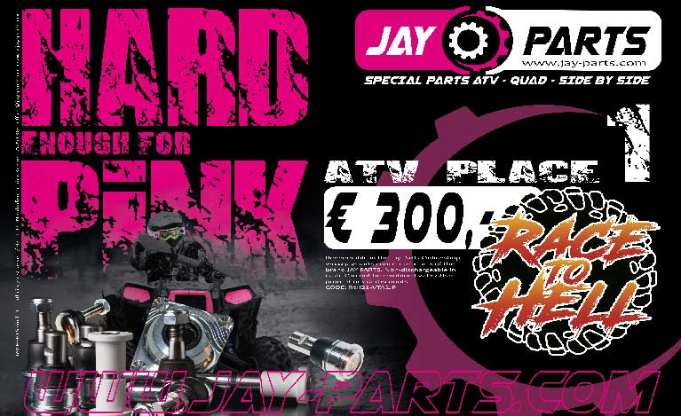 Jay Parts Sponsor of Race to Hell Italy