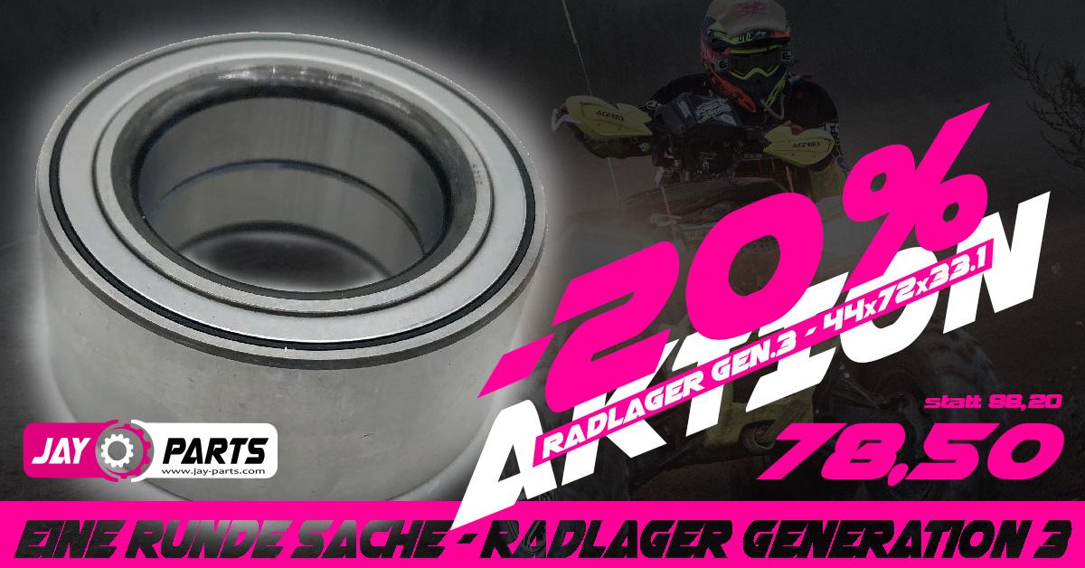 Aktion Radlager Generation 3 - nur bei Jay Parts bis 30.5.2021 so lange der Vorrat reicht