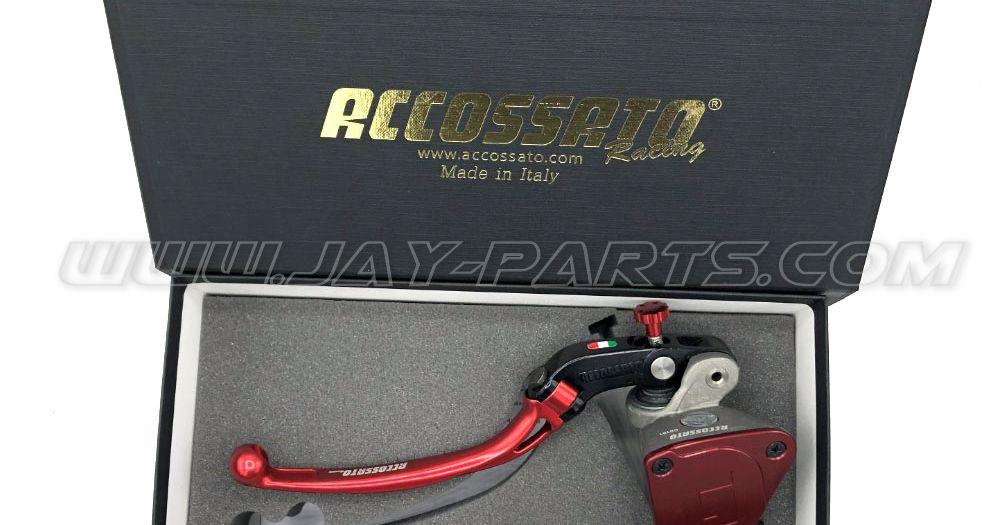 Accossato Racing Master Bremspumpe für Links ATV (Ausgleichsbehälter integriert)