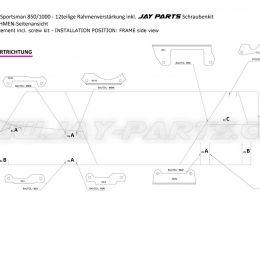 Jay Parts Verstärkungskit Polaris Scrambler / Polaris Sportsman JP0008