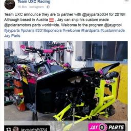 UXC Racing Partnership with Jay Parts